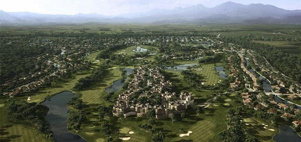 belek golf golf course birds eye view